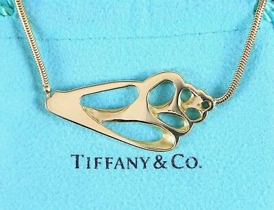 b055be712 Vintage Tiffany & Co Angela Cummings 18K Yellow Gold Seashell Pendant  Necklace