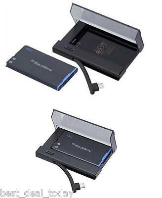 OEM Blackberry N-X1 Battery+External Spare Charger Bundle For Q10 BB 10 NX1 NX-1