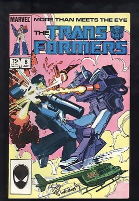 Transformers (1984) #6 1st Print Signed Bob Budiansky W/ Photo Kupperberg VG/FN