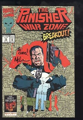 Punisher War Zone (1992) #16 1st Prt Signed Personalized Mike McKone W/Photo NM