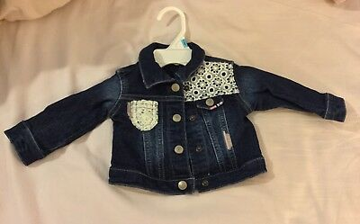 a724e81a NEW First Impressions Baby Girls Lace Detailed Denim Jacket 3-6 months