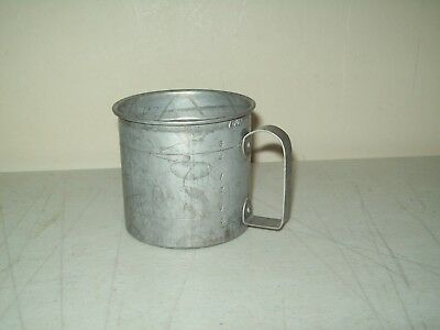 vintage Measuring Cup aluminum old timer one cup measure