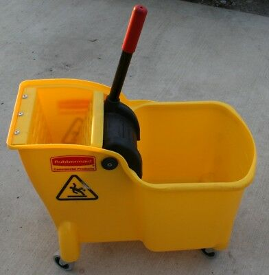 RUBBERMAID  Mop Bucket and Wringer 31 qt. Yellow FG738000YEL