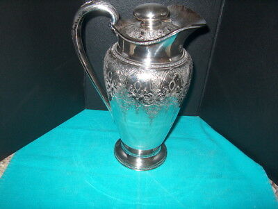 Vintage Ornate Silverplate Water Pitchermarked 81 82 International S.co. Wilcox