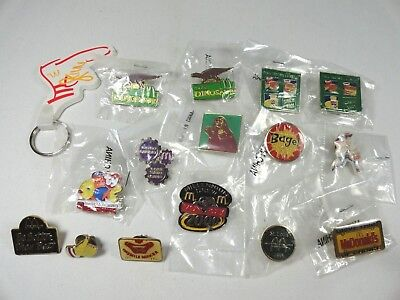 Vintage~Collectible~Lot of 15 McDonalds Pins Employee Crew Lapel Pin Pinback