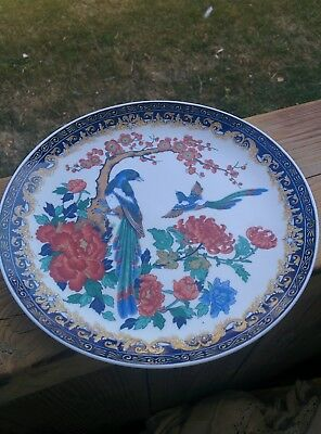 Beautiful Japanese Birds and Flowers Plate