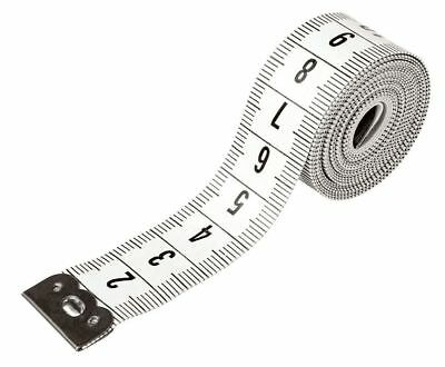 "White Body Measuring Extra Long 3m 120"" Ruler Sewing Cloth Tailor Tape Measure"