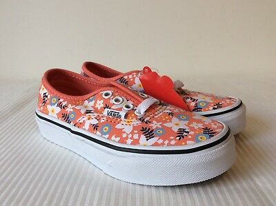 af13c61e94 Vans Authentic Floral Pop Coral Shoes VN0A32R6L2Z New W Box Youth Kids Sz 12