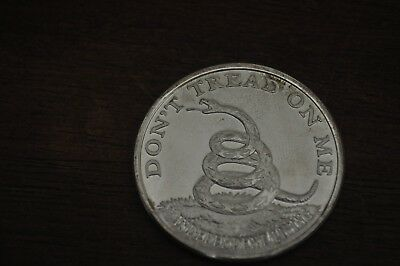 Don't Tread On Me Snake Boston Tea Party 1 OZ .999 Fine Silver Coin Round