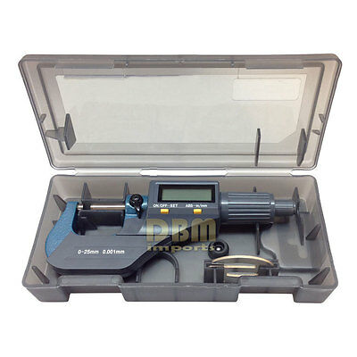 "Precision Electronic Digital Micrometer Gauge 0-1"" (0-25mm) 0.00005"" (0.001mm)"