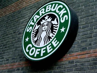 Starbucks Lighted sign 24x24 inch 3 inches deep
