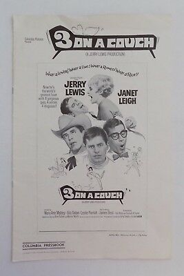 JERRY LEWIS Three On A Couch Pressbook Ad Merchandising Manual Leigh 1966 RARE