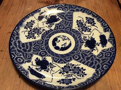 Nice Antique Japanese Blue And White Plate