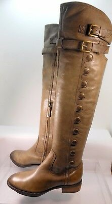 f1f44fa8a672 SAM EDELMAN PIERCE Over The Knee Riding Brown Boot Women US 6 Minimal Wear  -  63.20