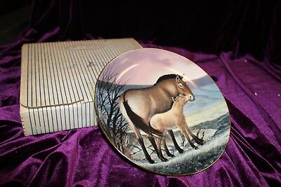 Vintage Przewalski horse Collector Plate Will Nelson  George Endangered Species
