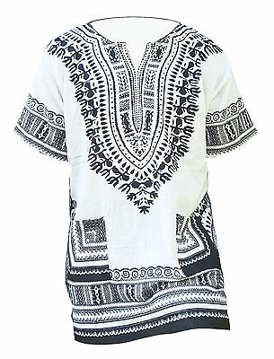Off White African Unisex Dashiki Shirt DP3830 Small to 7XL Plus Size