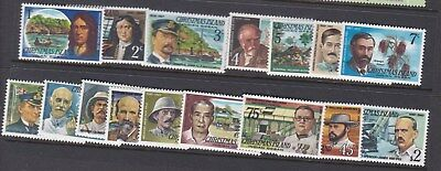 1977 CHRISTMAS ISLAND FAMOUS VISITORS - FULL SET x 16 stamps MINT UNHINGED MUH