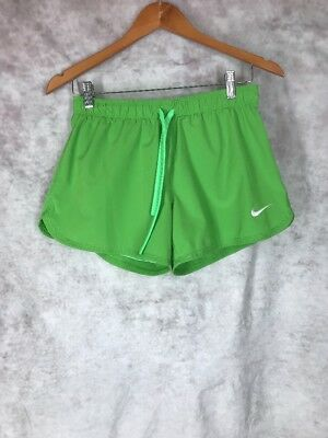 004a1475f9938 NEW BALANCE WOMENS athletic running shorts Green White Small With ...