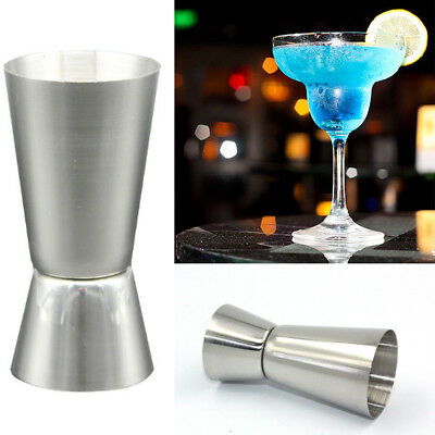 New Stainless Steel Double Single Shot Measure Jigger Spirit Cocktail Drink Cup