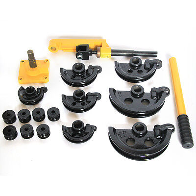10-25mm Manual Tube Bender Heavy Duty Steel Pipe Tube Bender Set Handheld Yellow