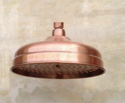 Antique Red Copper 8 inch Round Bathroom Rainfall Shower Head Zsh054