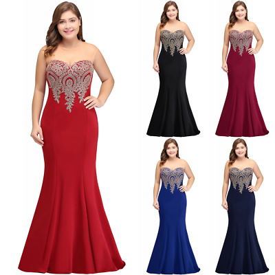 Long Evening Prom Dress Formal Party Ball Gown Bridesmaid Mermaid Applique New