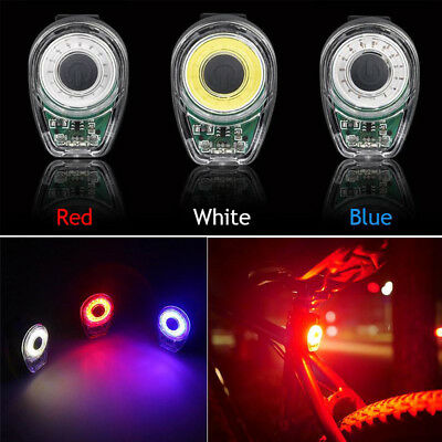 Smart Bike Tail Light USB Charging Warning Light LED Round Rear Back Safety Lamp