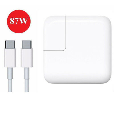 87W USB C Power Adapter Charger for Apple 2016 2017 MacBook Pro Touch Bar 13 15