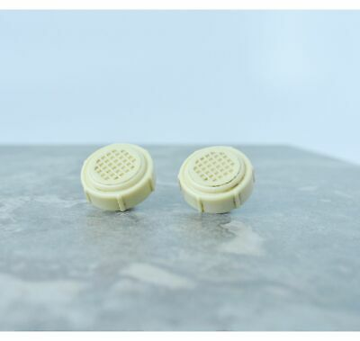 ADMIRAL Tube Radio Knobs Plastic waffle (2)1940-50's Antique Splined Shaft S064