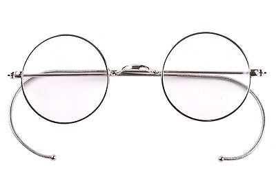 39mm 47mm 49mm Round Vintage Antique Wire Eyeglasses Glasses Frame Retro Plain