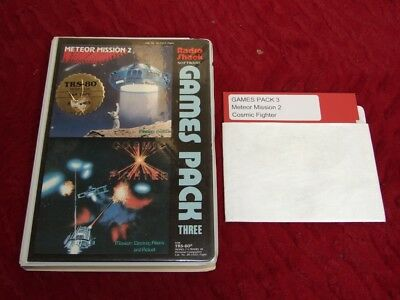 TRS-80 Model I / III Games Pack 3 - Meteor Mission 2 - Cosmic Fighter