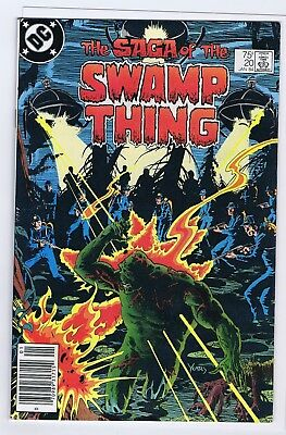 Saga Of The Swamp Thing 20 7.0 7.5  1St Alan Moore Newstand 1984  Ptc