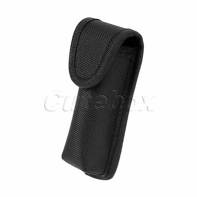 Black Sheath Knife Belt Pocket Holster Pouch Case Tool Waist Holder Oxford Cloth