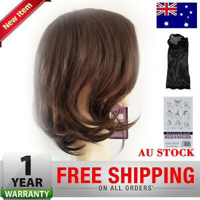 Ladies Fashion Women Wigs Curly Hair Brown Mixed Shoulder Length New Full Short