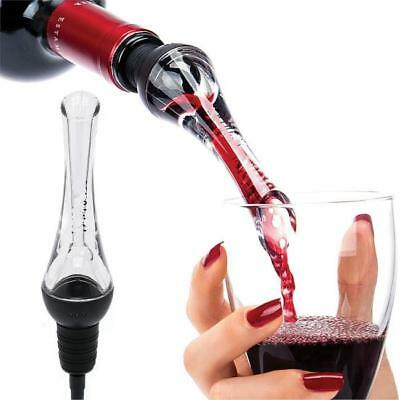 1 Pcs Wine Aerator Pour Spout Acrylic Decanter Pourer Aerating Bottle Stopper JJ
