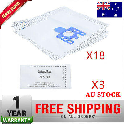 18 Pcs Vacuum Cleaner Bags Synthetic + 6 Filters For Miele GN Complete C2 C3