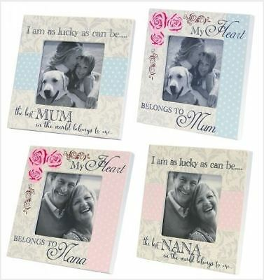 Wooden Sign French Country Vintage Inspired Mum, Nana Small Photo Frame New