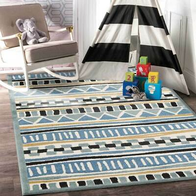 Multi Colored Children's Designer Rug