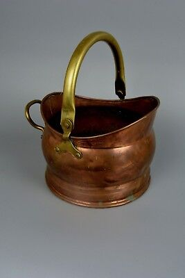 Small Vintage Copper and Brass Bucket, Planter, Plant Pot, Coal, Kindling.....