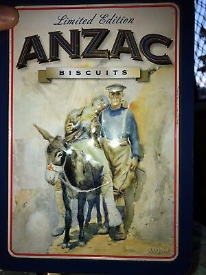 ANZAC biscuit tin - Simpson and his donkey