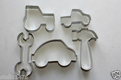 Car Ute Tractor Hammer Wrench COOKIE/biscuit CUTTER SET Boys Toys