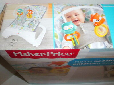 New Fisher-Price Comfort Curve Bouncer - Curvy Teal - Nice in Box