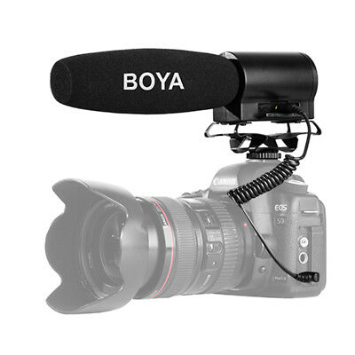 BOYA BY-DMR7 Broadcast Condenser Microphone W/ LCD Display For Video DSLR Camera