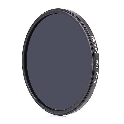 RISE(UK) 77MM 77mm Neutral Density ND8 filter for ALL DSLR SLR Camera lens