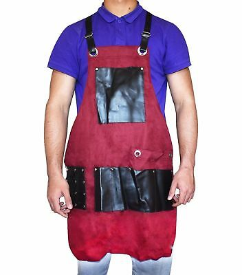 Professional Salon Barber Hairdressing Leather Fully Adjustable Gown Apron