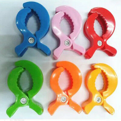 2PCS Convenient Colorful Alligator Clip Baby Stroller Clamp Toddler Accessories