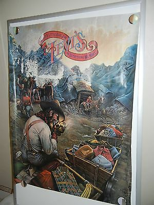 Vintage Levi's Jeans Advertising Poster 28 x 22 Western Coal Mine Mining Town