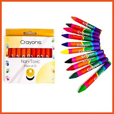 120 x NON TOXIC KIDS CRAYONS Kids Art Colouring Pen Craft Colour Drawing Crayon