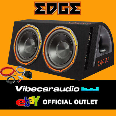 8 20cm 250 Watts Amplified Active Slimline Car Sub Subwoofer Bass Box Tube Enhance EHRQ8ACT