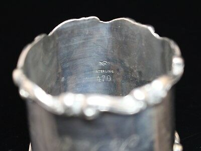 Antique Signed Frank M Whiting Sterling Silver 925 Napkin Ring Monogrammed